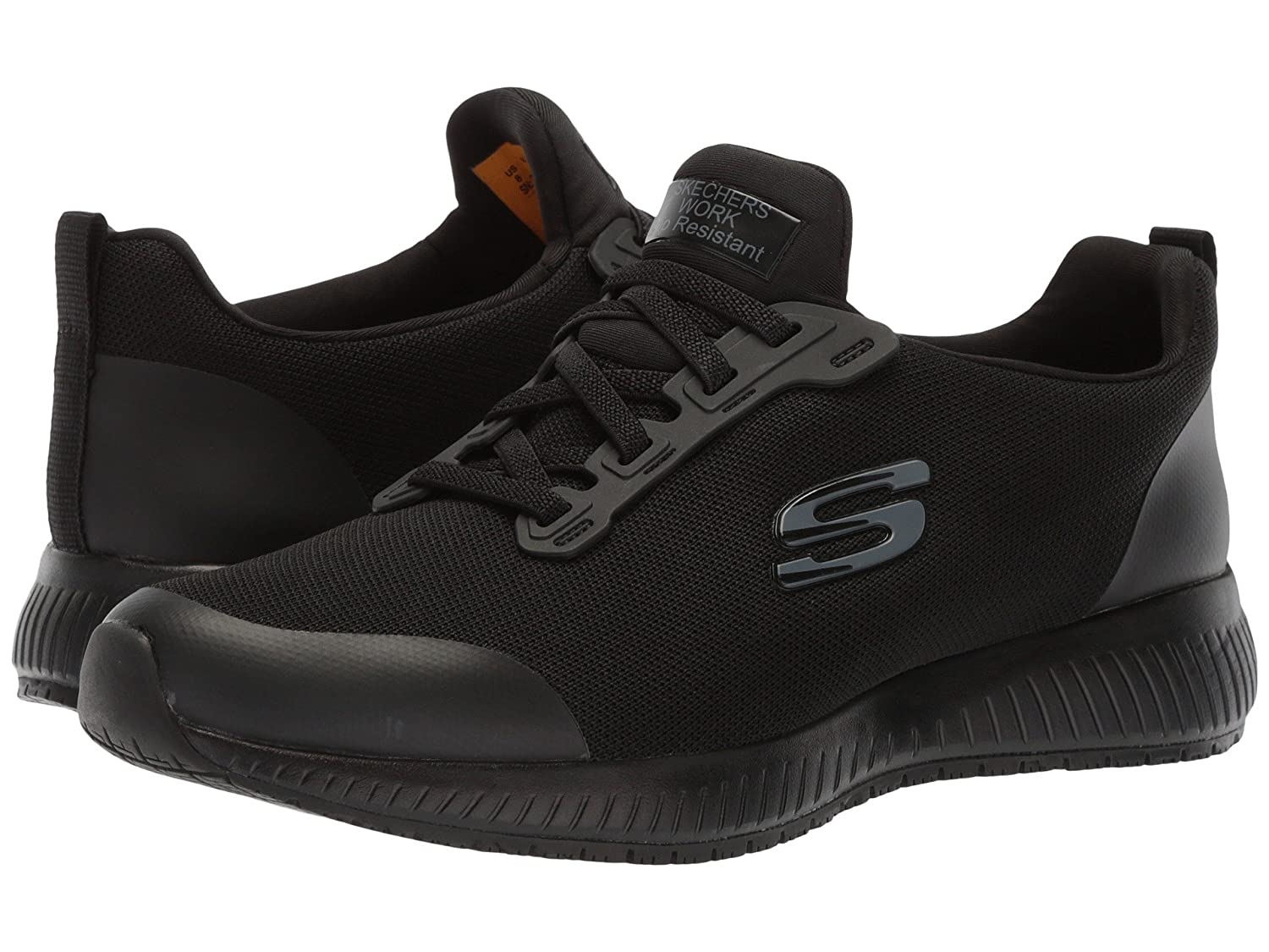 (スケッチャーズ) SKECHERS レディースワークシューズナースシューズ靴 Ghenter Bronaugh [並行輸入品] B07FS55YPH 7 (24cm) B Medium|Black Mesh/Water/Stain Repellent Treatment Black Mesh/Water/Stain Repellent Treatment 7 (24cm) B Medium