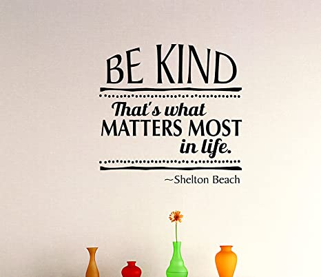 Design With Vinyl Zzz 1015 3 Decor Item Be Kind Thats What Matters