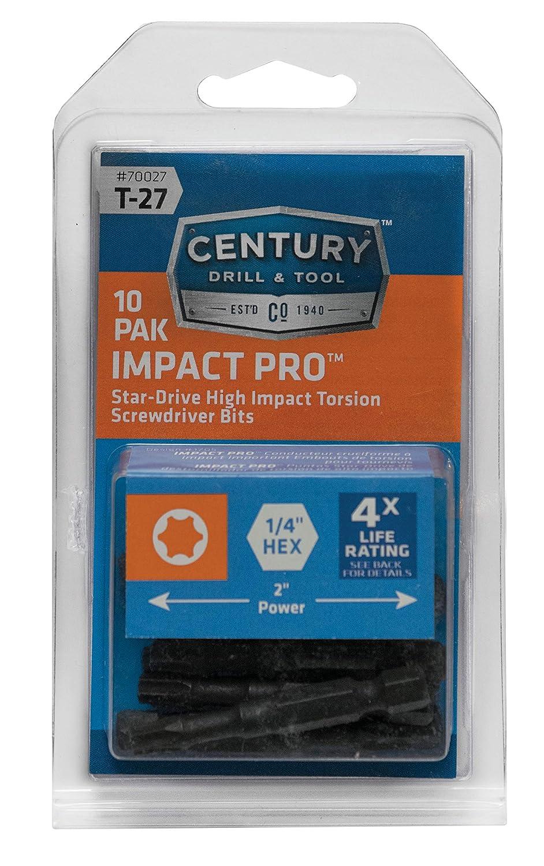 3.5 long Century Drill /& Tool 66325 Impact Pro T-25 Star Power Screwdriving Bit