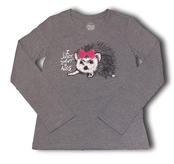 86df76d1565d Glitter Embellished 3D Long Sleeve Animal Character Tee Shirts For Girls  (X-Large (