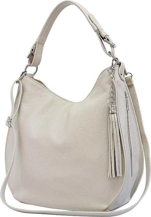 AmbraModa GL020 sac /à bandouli/ère femme 2 en 1 en cuir v/éritable italien sac /à dos