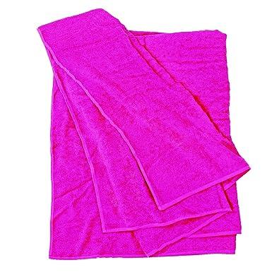 BigBasics XXL Handtuch - Pink - 100x220 und 155x220 1a Qualität, Größe: 155x220