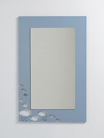 Specchio da parete rettangolare per bambini - Grandi nuvole ...