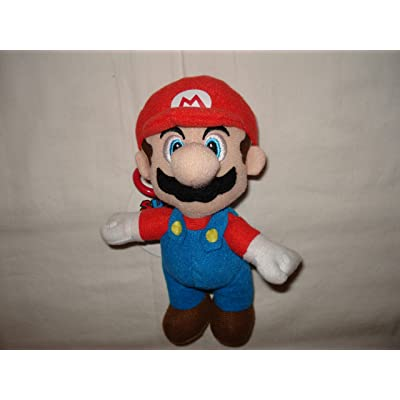 Mario Brothers Mario 7.5 inch plush Keychain: Toys & Games