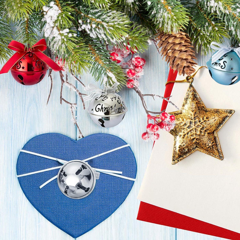 Naler 6 Cascabeles de Colores Grandes Campanas de Navidad Decoraci/ón Adorno para /Árbol de Navidad 63mm