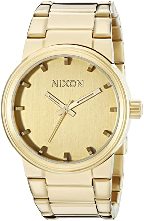 Nixon Mens A160-1891 Cannon All Gold Watch