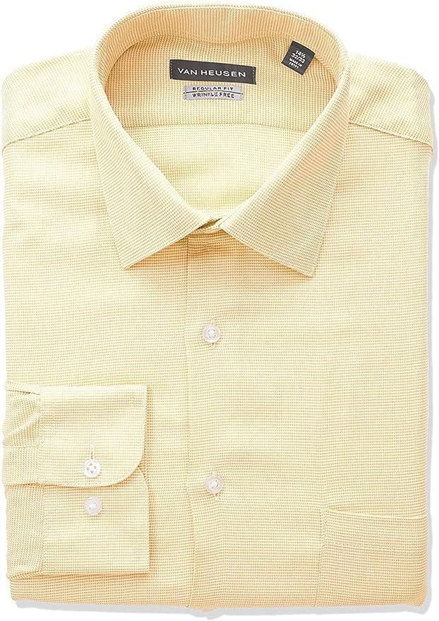Van Heusen Camisas de vestir para hombre con cuello de pata ...