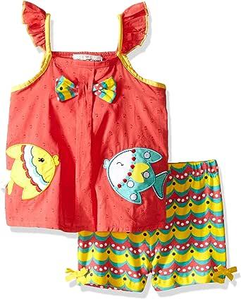 Bonnie Jean Girls Fish Applique Short Set