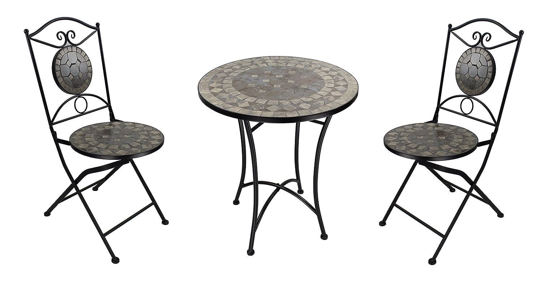 mosaik gartenm bel set 1 tisch und 2 st hle braun bestellen. Black Bedroom Furniture Sets. Home Design Ideas