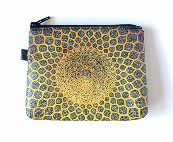 42c9568ccde8 Amazon.com: Gold Leather CHANGE PURSE with Turkish Mosaic Tile ...