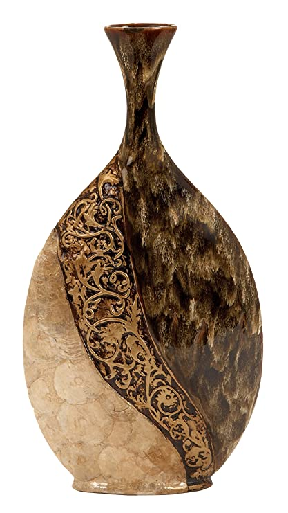 Amazon Deco 79 Ceramiccapiz Shell Vase 25 By 13 Inch Home