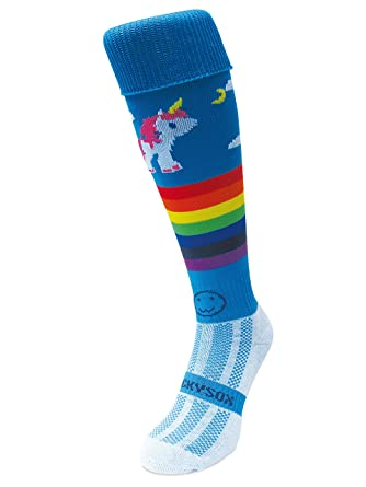 Rainbow Unicorn WackySox Rugby Socks Hockey Socks