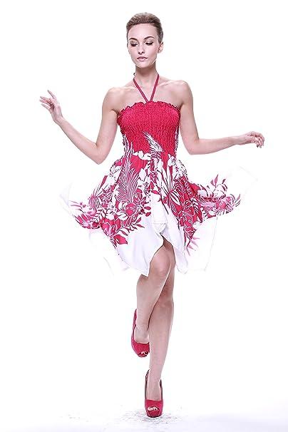 Vestido gitano Vestido hawaiano Vestido Luau Vestido de hada en Indri Rosa