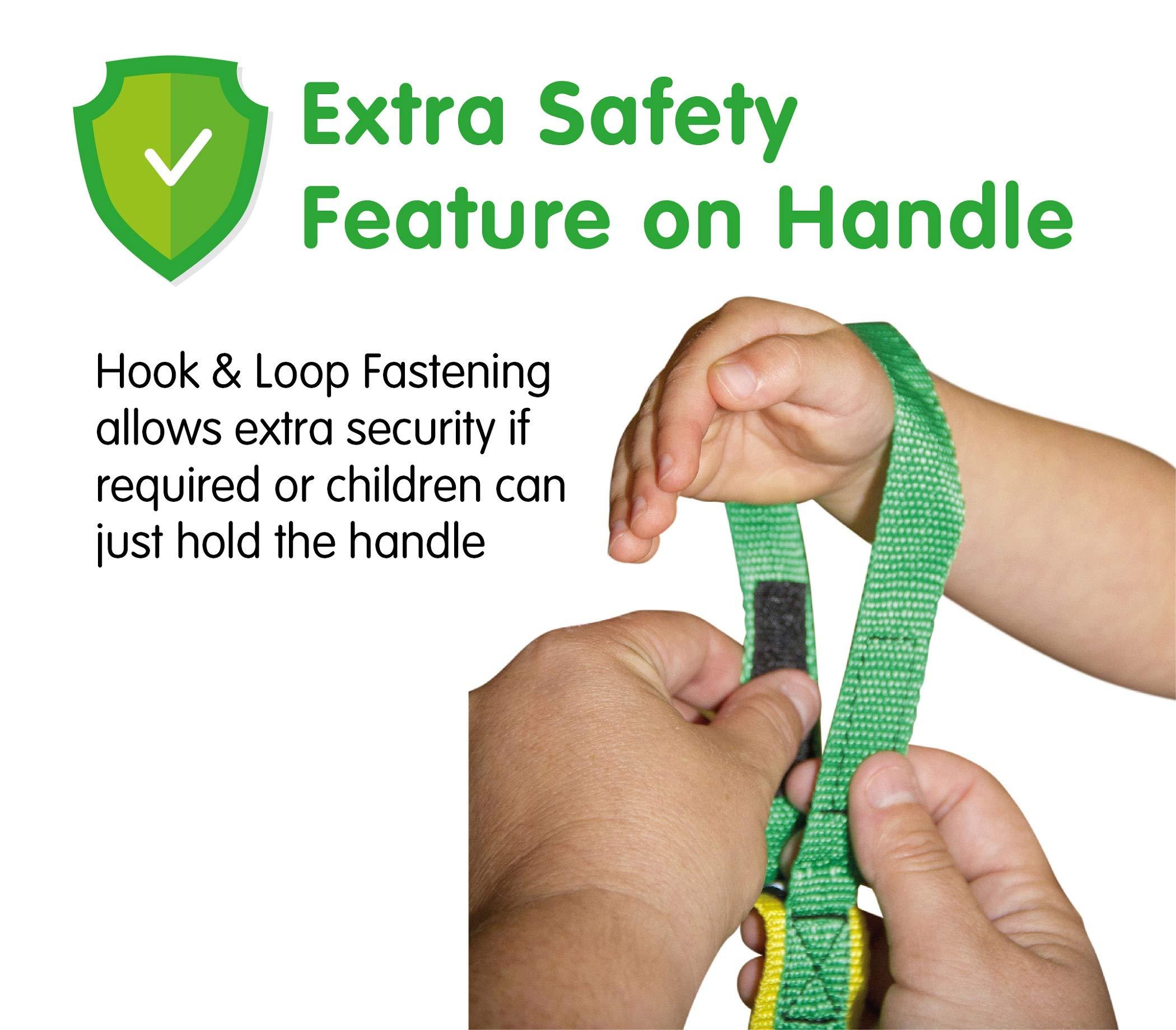 Grab & Go Children's Walking Rope (6 child) with Safe Hi-Viz Details. Teacher Approved Safety Walk In Line Ropes For Preschool Kids. Includes Free Learning Games for Walks Guide.