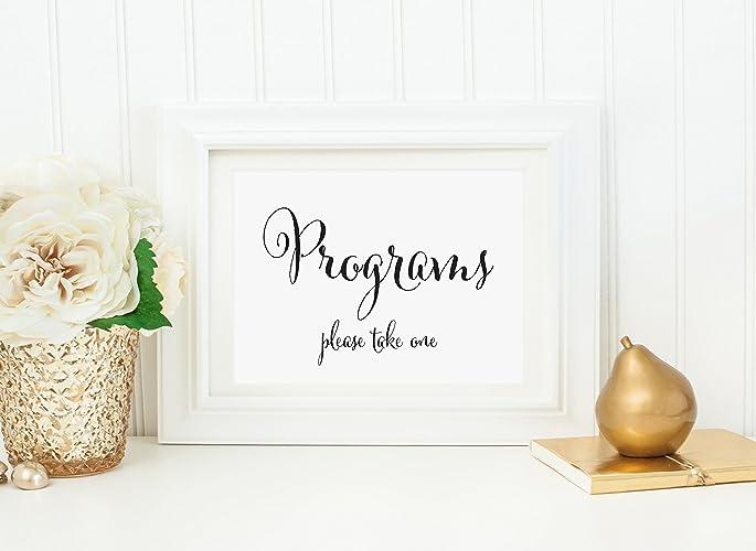 amazon com modern wedding programs table sign modern wedding