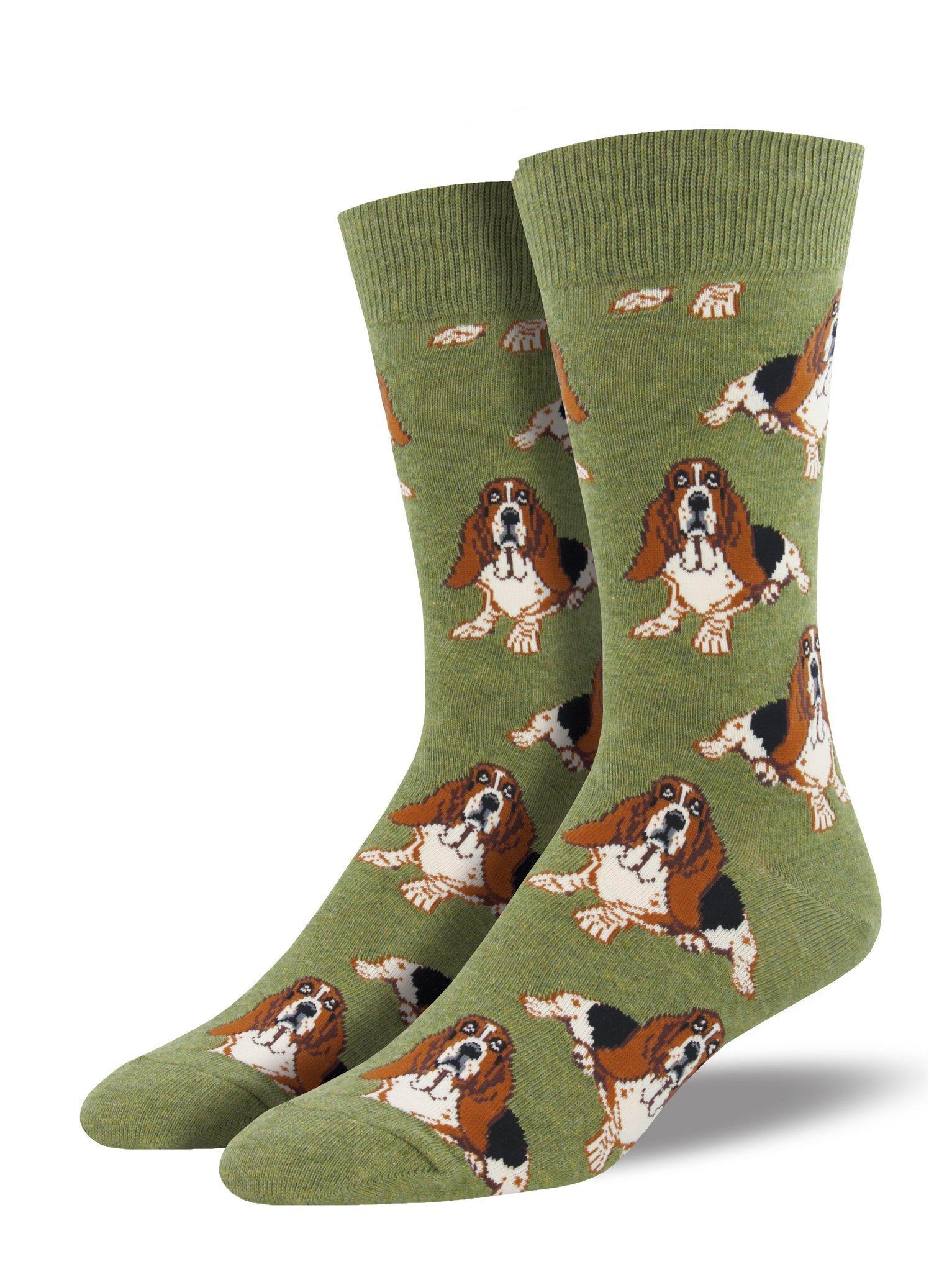 """Socksmith Mens' Novelty Crew Socks""""Nothing But a Hound Dog"""" 1"""