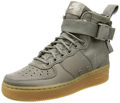 Nike W SF AF1 MID Womens Fashion-Sneakers AA3966-004 5.5 - Dark 12a1bb1b88