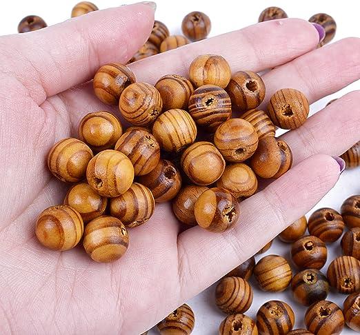 BronaGrand 100 perline rotonde in legno da 14 mm colore naturale