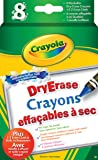 Crayola 8 Dry Erase Crayons, Washable Original