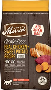 Merrick Grain Free Dry Dog Food Real Chicken & Sweet Potato Recipe, Limited Time Offer - 30 lb Bag