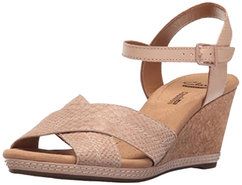 f4f3f3dac72 Clarks Womens Helio Latitude Wedge Sandal  Amazon.ca  Shoes   Handbags