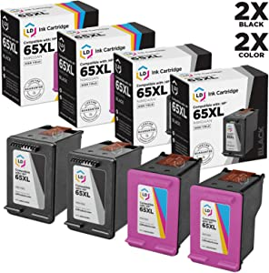 LD Remanufactured Ink Cartridge Replacement for HP 65XL ( 2 Black, 2 Color, 4 pk )
