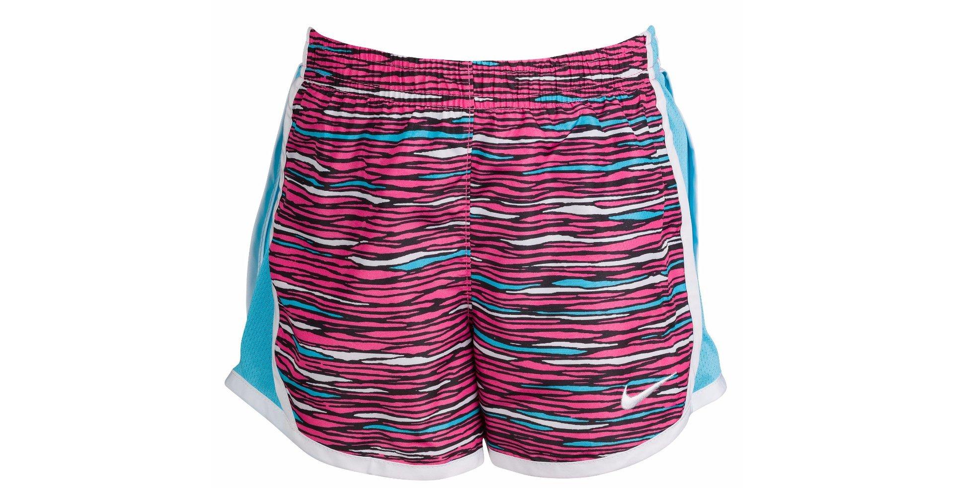Nike Little Girls Tempo Shorts (2T, Hyper Pink/Blue/White)