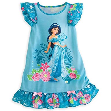 Image Unavailable. Image not available for. Color  Disney Store Princess  Jasmine Girl Nightgown Night Shirt Pajama ... ea3886142