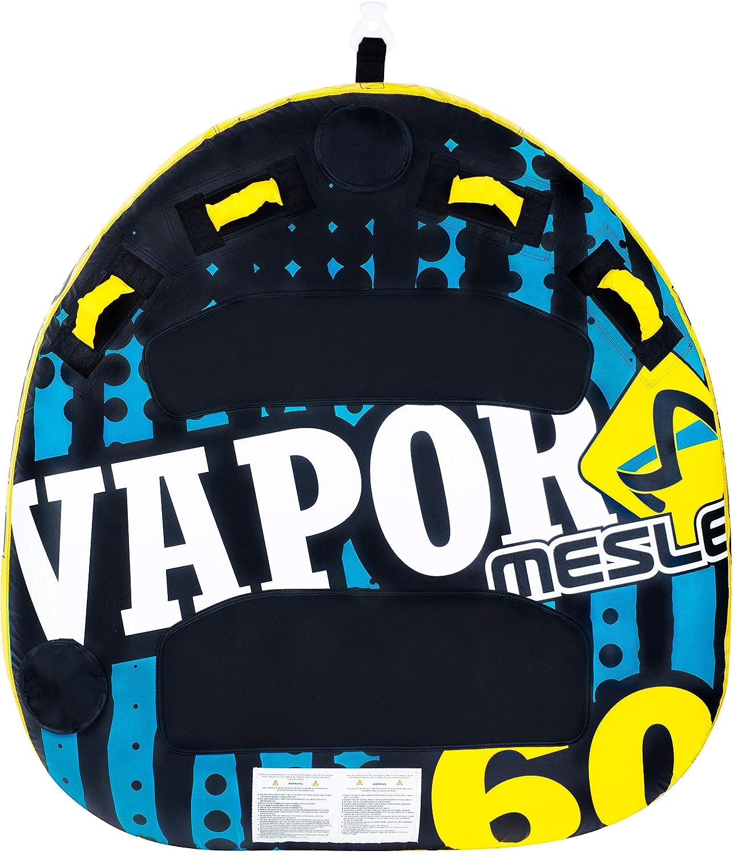 840 D Nylon 140cm x 140cm mit 2P Schleppleine Towable-Tube Quick-Connect-Hacken Deck-Tube MESLE Tube Package Vapor 60 2 Personen Speed Towable EVA Liegefl/äche blau-gelb-schwarz