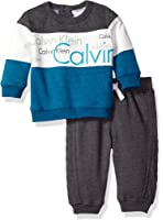 Calvin Klein Baby Boys' Pullover with Pants Set