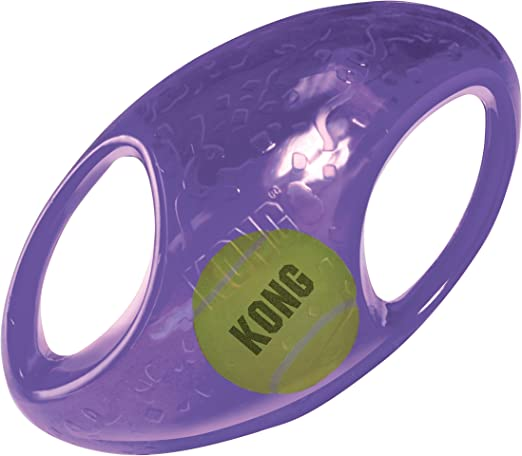 KONG - Jumbler Football - Juguete con pelota de tenis - Para ...