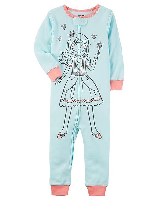 1d54b68eaf7d Carter s Little Girls  1-Piece Snug Fit Cotton Footless Pajamas ...