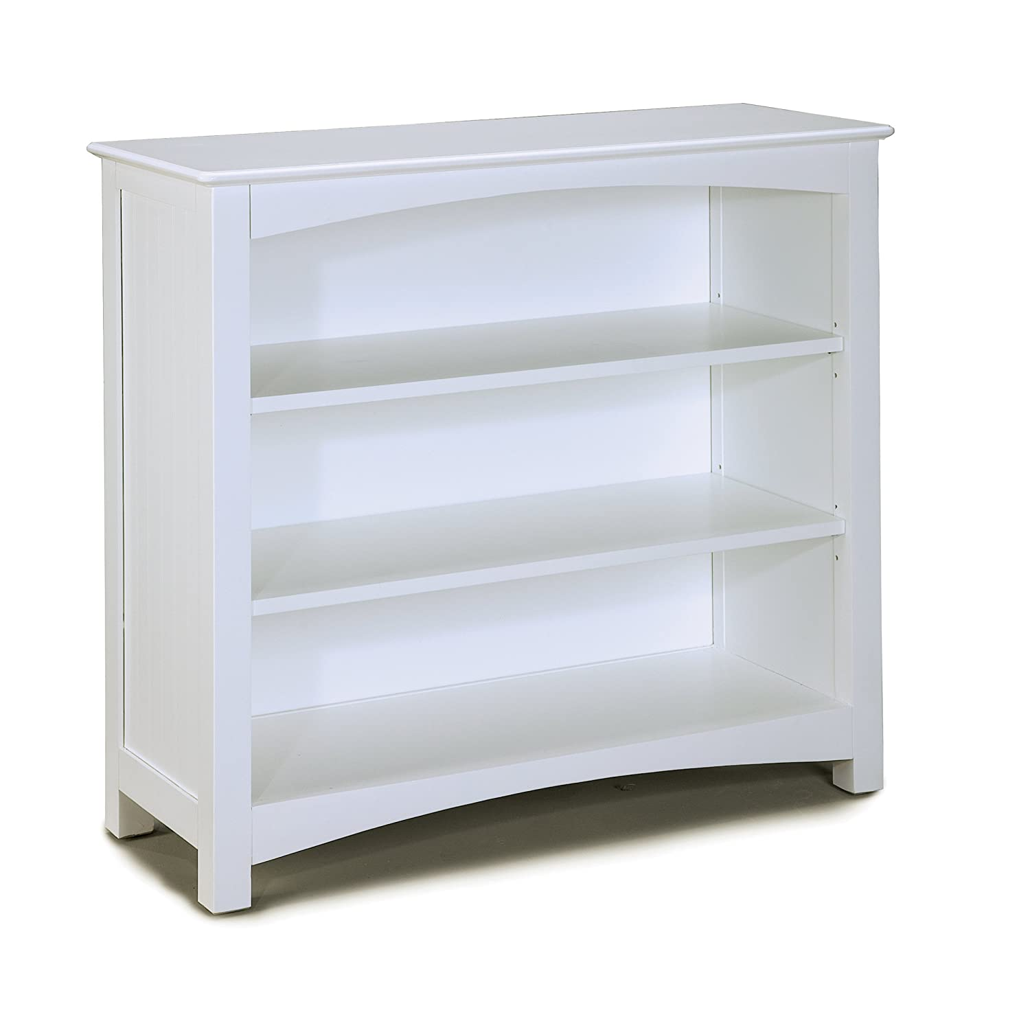 Amazon com bolton furniture wakefield small bookcase with two adjustable shelves white kitchen dining