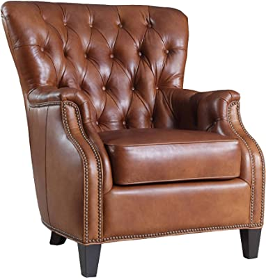 Hooker Furniture Seven Seas Tufted Leather Club Chair In Aegis Glove