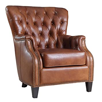 Enjoyable Amazon Com Hooker Furniture Seven Seas Tufted Leather Club Spiritservingveterans Wood Chair Design Ideas Spiritservingveteransorg