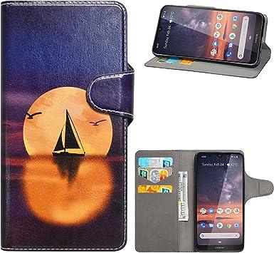 HHDY Funda Xiaomi Redmi Note 8,Diseño PU Cuero Libro Soporte ...
