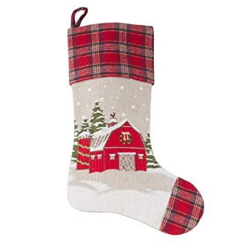 Amazon.de: SARO LIFESTYLE Home Collection Christmas Barn ...