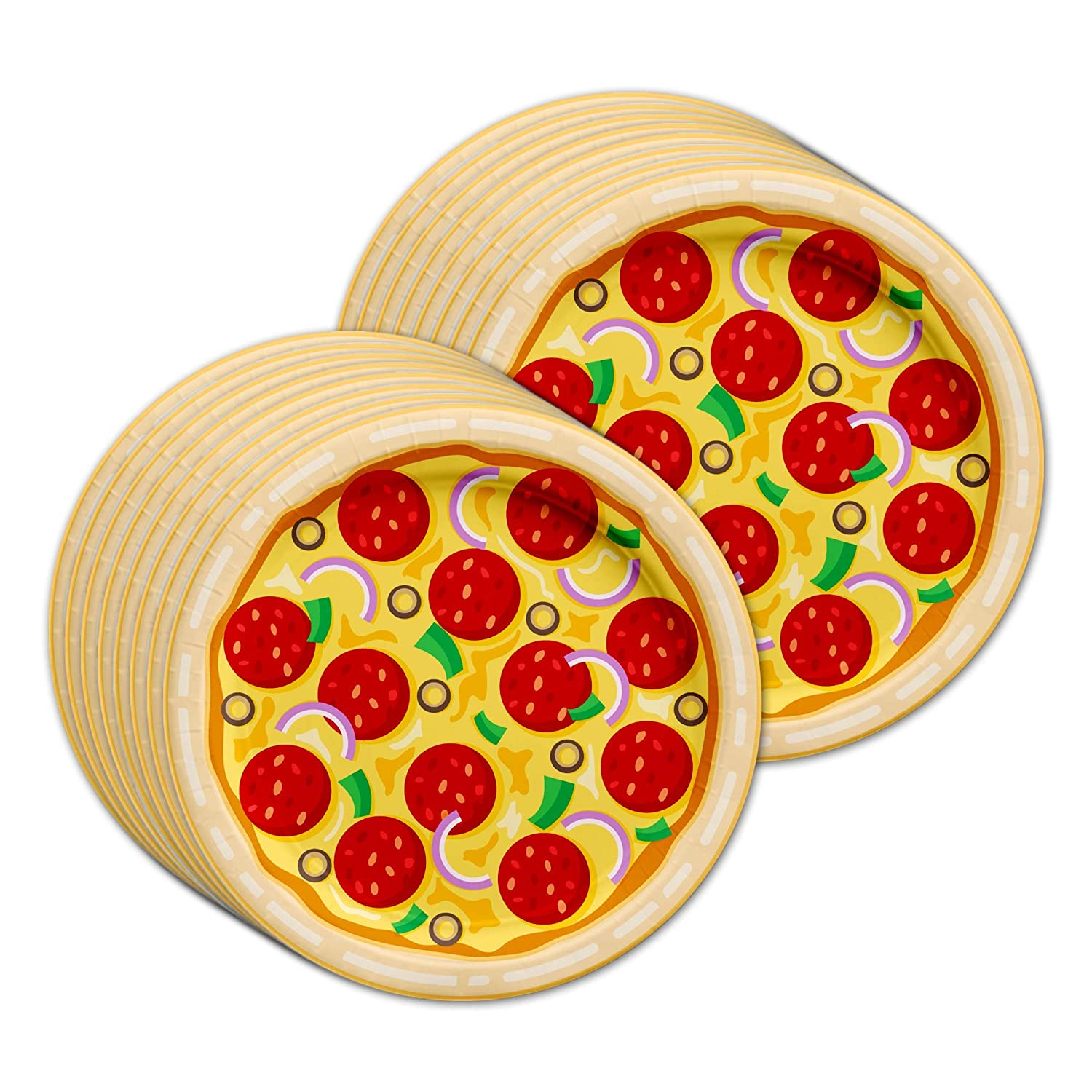 Pizza Birthday Party Supplies Set Plates Napkins Cups Tableware Kit for 16 Birthday Galore