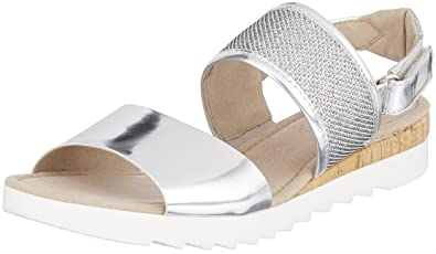 feb700855b21 Gabor Shoes Damen Comfort Sport Riemchensandalen, Grau (Argento (Kork), 35  EU
