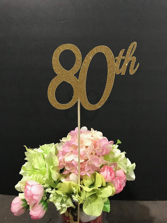 Amazon 80th Birthday Decorations Centerpiece Sticks Glitter 80 Table Age Anniversary Stick