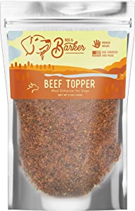 Beef Dog Food Toppers by Beg & Barker | Human Grade, High Protein, All Natural, Air Dried | USA Sourced & Made | Premium Meal Mixer | 5 oz. Bag