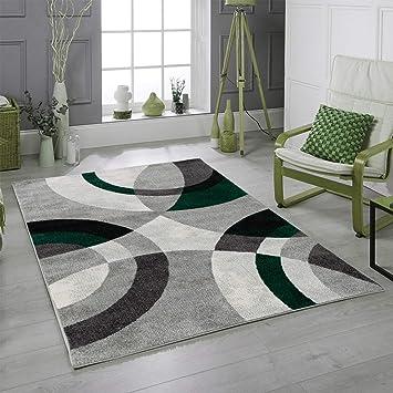 Koton ANTA Tapis de Salon Contemporain (Vert, 120 x 160 cm)