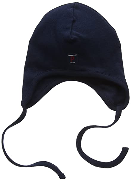 fd12cc229a722 Amazon.com  Polarn O. Pyret Best Basic ECO Flap HAT (Baby) - 9 Months - 2  Years Dark Sapphire  Clothing