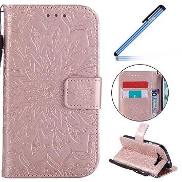 YSIMEE Funda Samsung Galaxy S3,Carcasa Libro de Cuero con ...