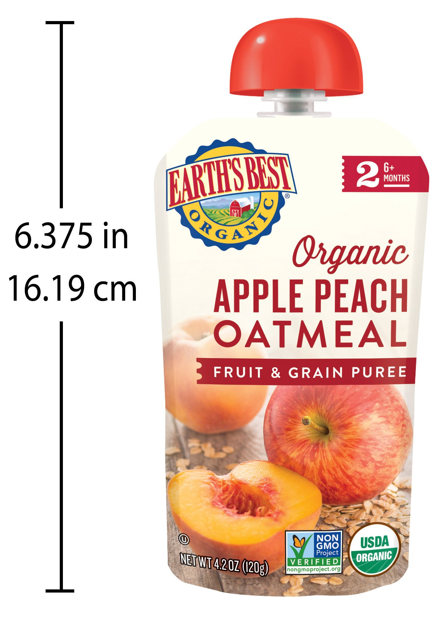 Earth's Best Organic Stage 2 Baby Food, Apple Peach and Oatmeal, 4.2 oz. Pouch (Pack of 12) by Earth's Best (Image #9)