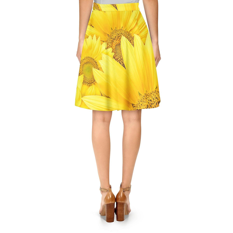 Girasoles a-line falda - Amarillo -: Amazon.es: Ropa y accesorios