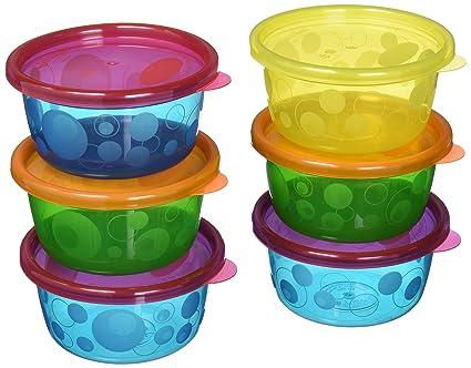 Kopjes, schotels, keukengerei 8 Bowls with Lids Beautiful Beginnings Baby Travel Bowls with Lid 4 PACKS