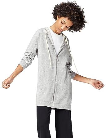 Find maglia oversize con cappuccio donna amazon grigio felpe con cappuccio