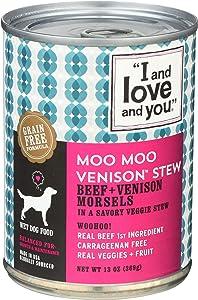I Love You Dog Food Can Venison, 13 oz