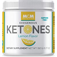 MCM Nutrition - Exogenous Ketones Supplement & BHB - Caffeine Free and Suppresses Appetite - Instant Keto Mix That Puts You into Ketosis Quick & Boosts The Keto Diet (Lemon Flavor - 15 Servings)